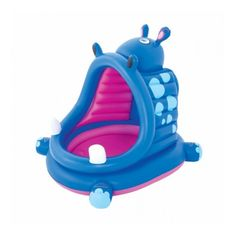 Bestway 44 Inches x 39 Inches x 38 Inches Covered Hippo Baby Pool - JCPenney