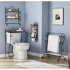 Scrolled Storage Furniture  All four pieces for $144.80   Or you can purchase separately lovely Bathroom Furniture @countrydoor.com