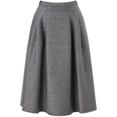 Phase Eight Shimmer Scuba Skirt, Silver (5.505 RUB) ❤ liked on Polyvore featuring skirts, silver skirt, glitter skirt, metallic skirt, pocket skirt and metallic midi skirt