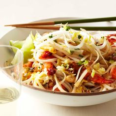 This is a great, fast version of American-style pad thai, with an appealing combination of sweet, sour and spicy flavors. Look for the noodles in the ...