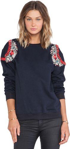 HEMANT AND NANDITA HEMANT AND NANDITA Crystal Sweatshirt on shopstyle.com