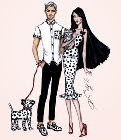 Hayden Williams Fashion Illustrations: Pampered Pets by Hayden Williams: 'Seeing Spots'