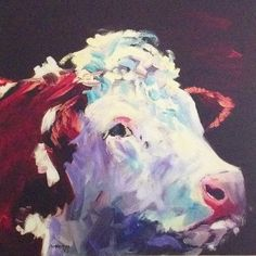 Momma Protecting cubs - by Diane M Whitehead from Watercolor Animals, Watercolor Paintings, Watercolour, Daddy Daughter, Daughters, Beef Cattle, White Cow, Cow Art, Hereford