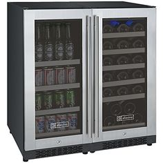 Allavino FlexCount Series Dual Zone Side by Side Wine Cooler and Beverage Center Built In Wine Refrigerator, Beverage Refrigerator, Wine Storage, Locker Storage, Free Standing Wine Racks, Wine Rack Cabinet, Wine Coolers Drinks, Beverage Center, Shelving Design