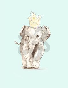 Party Elephant, Animals Canvas Wall Art | Oopsy daisy