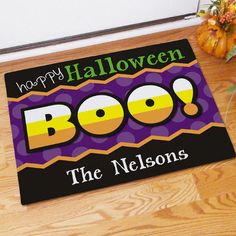 Personalized Happy Halloween Boo Doormats