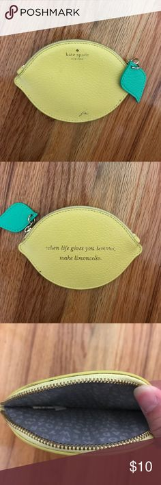Kate Spade coin purse 100% Authentic Used Stained in front shown in pic kate spade Bags Wallets