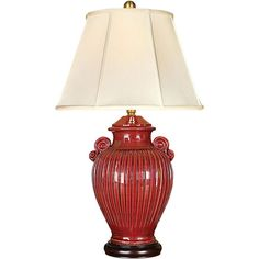 Odessa Red One-Light Table Lamp