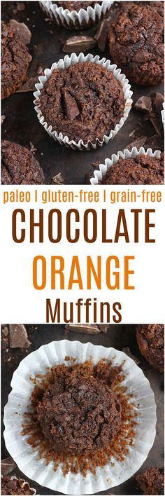 Paleo Chocolate Orange Muffins - Grain-free and naturally gluten-free, these paleo Chocolate Orange Muffins are the perfect balance of rich chocolate flavor with a hint of bright citrus!