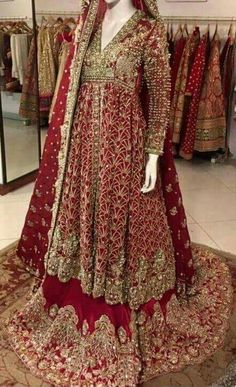 Pakistani bridal wear by areeba Asian Bridal Dresses, Pakistani Wedding Outfits, Pakistani Bridal Dresses, Pakistani Wedding Dresses, Bridal Outfits, Bridal Lehenga, Indian Dresses, Indian Outfits, Pakistan Bride