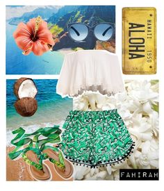 """""""Hawaii """" by fahirahsaid ❤ liked on Polyvore featuring Cultural Intrigue and OneSelf"""