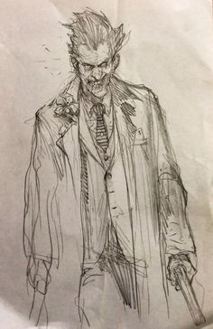 The Joker sketch by Karl Kopinski *