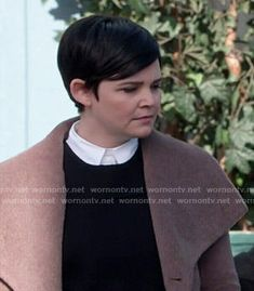 Mary's brown furry coat on Once Upon a Time
