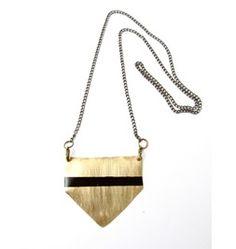 Geo Brass Chevron Tribal Necklace
