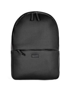 The Rains Mesh Bag is a sporty backpack with a large main room with an inside laptop pocket. This Rains backpack has a small pocket on the outside of the bag, w
