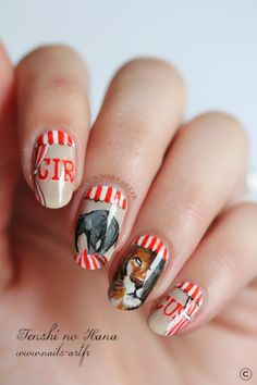 Super cute...and distracting.  I'd be too busy looking at my nails to get anything done!