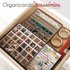 Organizando acessórios