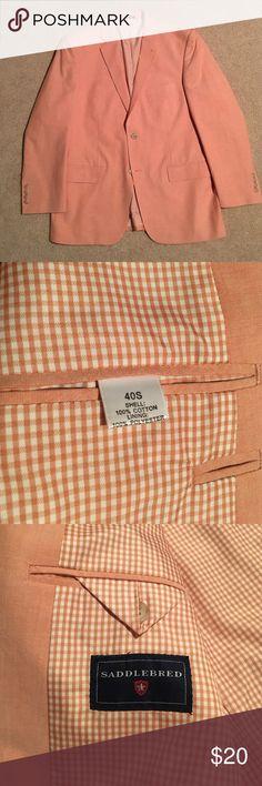 Saddlebred Sport Coat Size 40s peach colored Saddlebred men's Sport Coat. Worn once, excellent condition. Saddlebred Suits & Blazers Sport Coats & Blazers