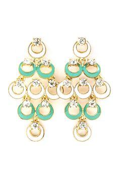 Minty Ova Chandelier Earrings