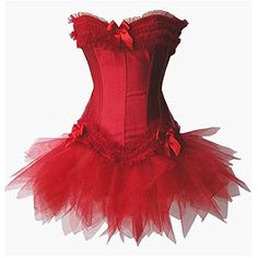 This adorable Jescakoo Lack Corset and Tutu Skirt Red will work wonders for a homemade #SexyCupidCostume