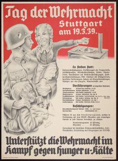 """propaganda poster """"Tag der Wehrmacht""""  Herausgeber: Kriegswinterhilfswerk;"""