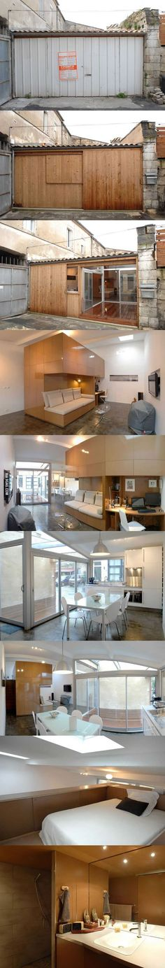 Garage converted into apartment