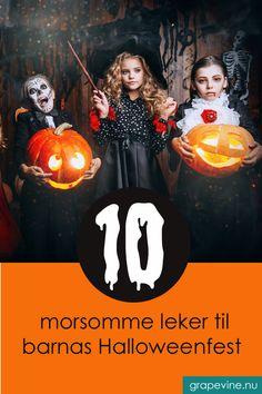 10 morsomme leker til barnas Halloweenfest - grapevine. Grape Vines, Barn, Halloween, Movies, Movie Posters, Films, Converted Barn, Film Poster, Vineyard Vines