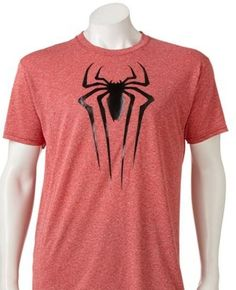 The Amazing Spiderman 2 Compression TShirt Logo Red Moisture Wicking NEW Spider #TheAmazingSpiderman2 #GraphicTee