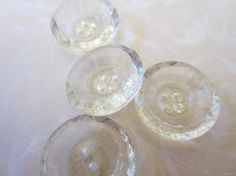Vintage Buttons lot of clear Depression glass by pillowtalkswf