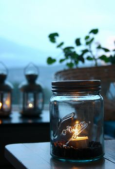 candles and coffee beans