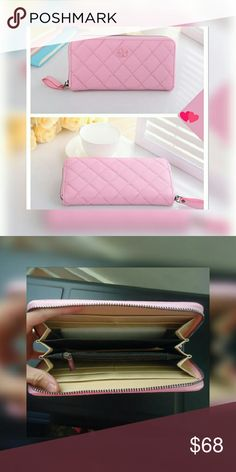 SALEGorgeous Pink Quilted Wallet Size:  Width  : 3cm   Height : 10cm  Length  : 20cm    FAST SHIPPING  ?? Bags Wallets
