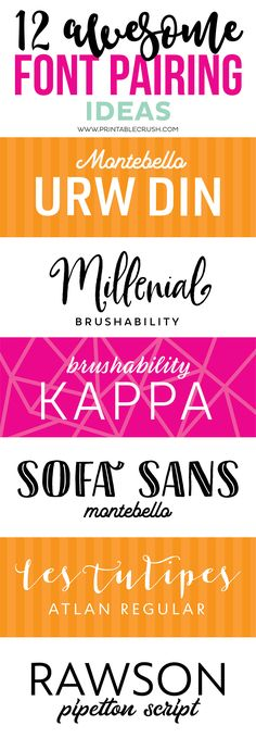 Before you create your own designs, check out some awesome font pairing ideas with script, serif, and sans serif fonts! One of the biggest mistakes I see in design is bad font pairings…it happens A L