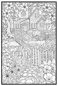 Cottage > Lots more coloring pages at: http://inspireddutchmom.com/van-vrouw-tot-vrouw/kleurplaten-voor-volwassenen/