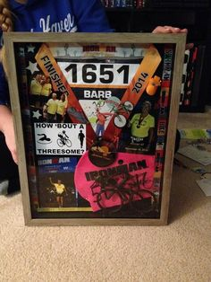 Shadow box of your Ironman Memories.
