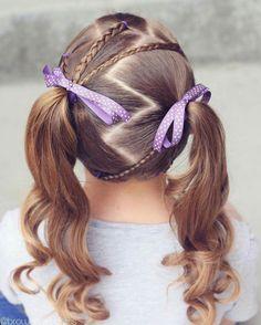 braided hairstyle、children、kids、for school、little girls、children's hairstyles、for long hair Easy Toddler Hairstyles, Childrens Hairstyles, Cute Hairstyles For Kids, Baby Girl Hairstyles, Kids Braided Hairstyles, Princess Hairstyles, Cool Haircuts, Trendy Hairstyles, Toddler Hair Dos