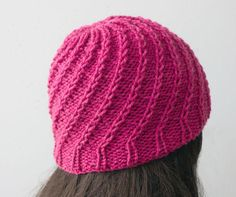 (6) Name: 'Knitting : Spiral Knit Hat
