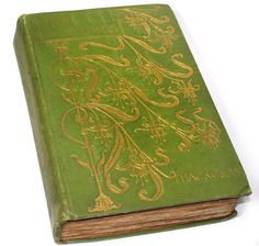 1900's book Thackeray The Newcomes pretty green by porchandparlor, $21.00