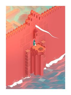 the beautiful Monument Valley game design Isometric Art, Isometric Design, Bg Design, Game Design, Art Isométrique, Ustwo Games, Pixel Art, Monument Valley Game, Environment Design