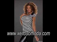Video Camiseta de rayas para chicas. Moda mujer en España http://www.xeitosomoda.com/28-camisetas