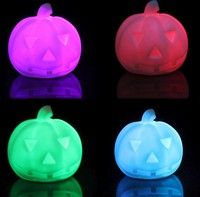 Geek | New Led Colorful Pumpkin Light Halloween Party Decoration Prop Bedside Table Lamp
