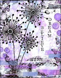 Dream Believe Wish Mixed Media Print by StudioP3 on Etsy, $10.00