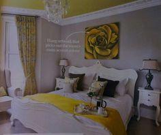 Yellow & white bedroom