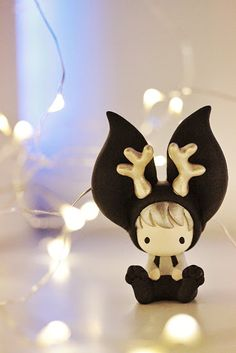 Mijbil Creatures   Miniature Jackalope toy   Online Store Powered by Storenvy