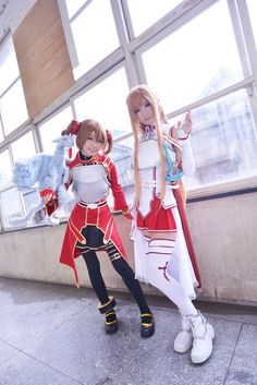 Sword Art Online Asuna and Silica Cosplay. Love It!!