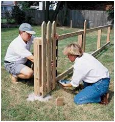 We have to build a picket fence for the front yard.