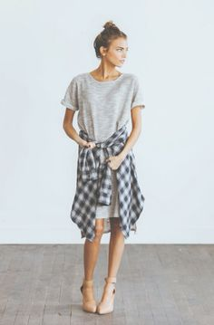 Clad and cloth oversized tshirt dress