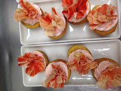 Gorgeous pink cupcakes our Executive Pastry Chef Shane made for a bridal shower!