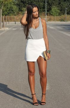 White On Gray       loove the skirt!