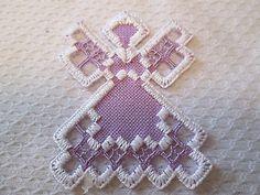 Hardanger Norwegian Embroidery Angel Lavender | eBay