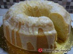 Fluffy eggless, milkless and butter less cake Greek Sweets, Greek Desserts, Greek Recipes, Vegan Desserts, Delicious Desserts, Cupcakes, Cupcake Cakes, Cooking Cake, Cooking Recipes